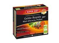 super diet superdiet gelée royale miel pollen bio solution buvable 10 ampoules/15ml