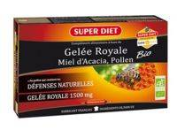 super diet superdiet gelée royale miel pollen bio solution buvable 20 ampoules/15ml