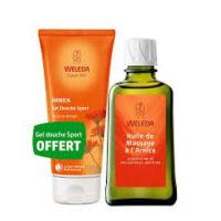 weleda huile de massage arnica 200ml + gel douche offert
