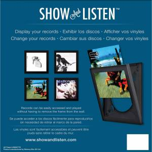 Show and Listen - Black LP Flip Frame - Publicité