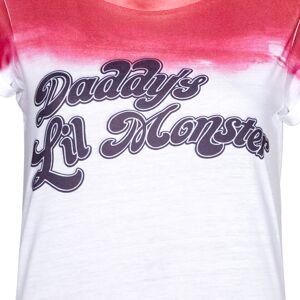 Geek Clothing T-shirt Femme DC Comics Wo Suicide Squad Daddys Lil Monster - Blanc/Rose - XL - Blanc - Publicité