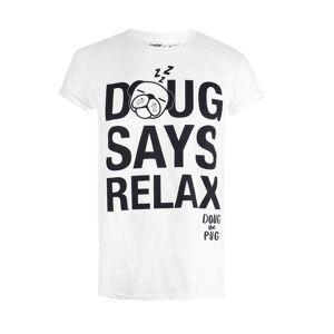 Creative T-shirt Homme Doug The Pug Relax - Blanc - L - Blanc - Publicité