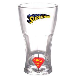 DC Comics DC Universe Soda Glass Superman 3D Rotating Logo - Publicité