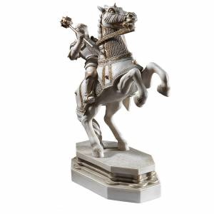 The Noble Collection Harry Potter Wizards Chess White Knight Bookend - Publicité