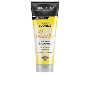 John Frieda SHEER BLONDE champú aclarante blond hair  250 ml - Publicité