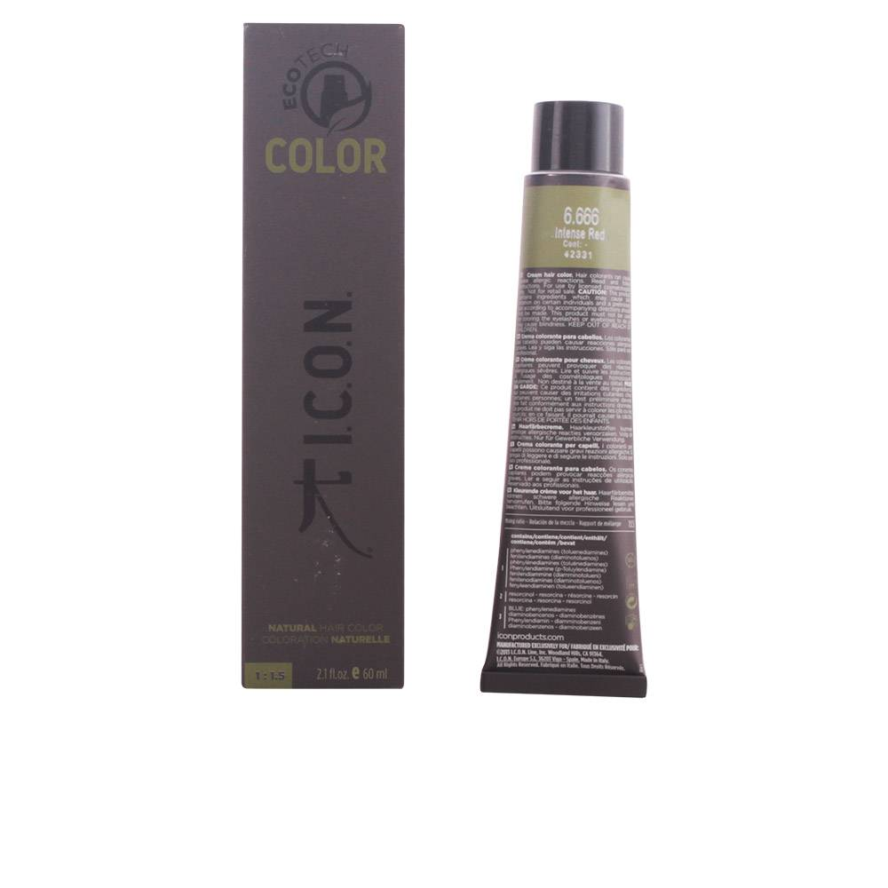 I.c.o.n. ECOTECH COLOR natural color  #6.666 intense red 60 ml