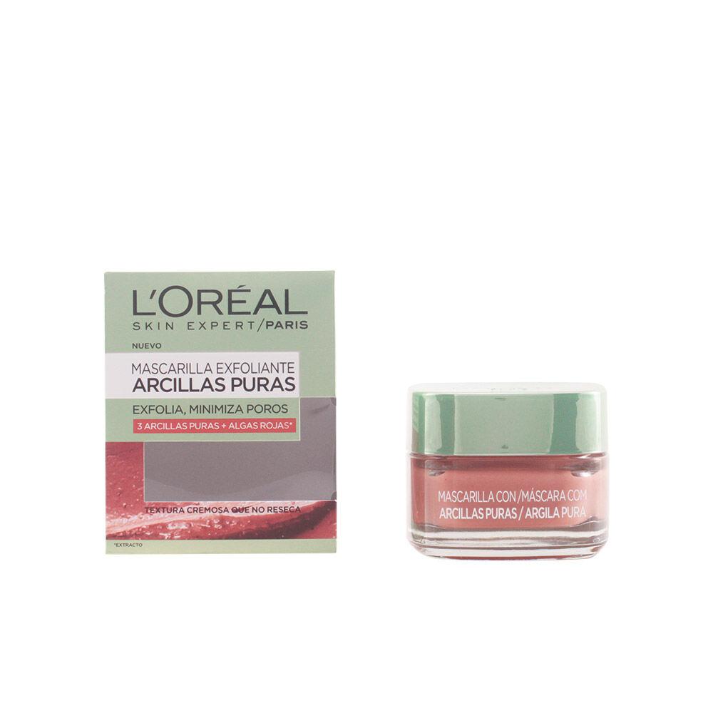 L'Oreal Make Up ARCILLAS PURAS exfolia y minimiza poros algas rojas  50 ml