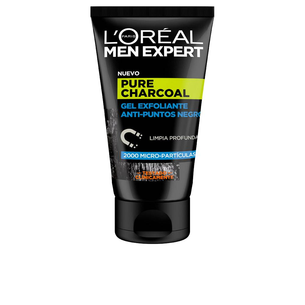 L'Oreal Make Up MEN EXPERT pure charcoal gel exfoliante p.negros  100 ml