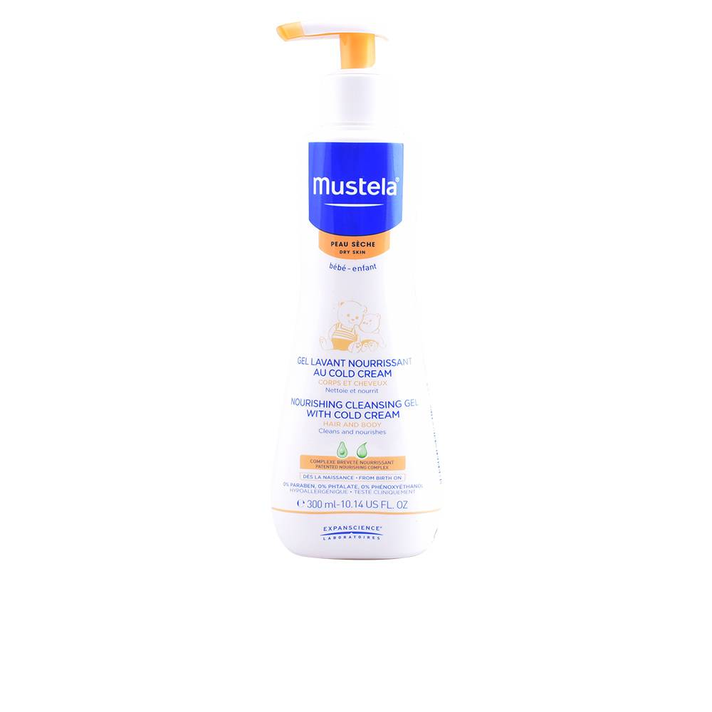 Mustela BÉBÉ nourishing cleansing gel with cold cream  300 ml