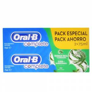 Oral-b COMPLETE DENTIFRICO ENJUAGE + BLANQUEANTE SET 2 x  75 ml 2 pz