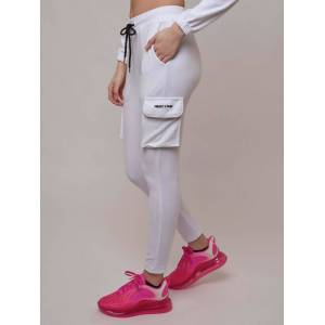 PROJECT X PARIS Pantalon de jogging en velours Blanc 100% polyester taille: L