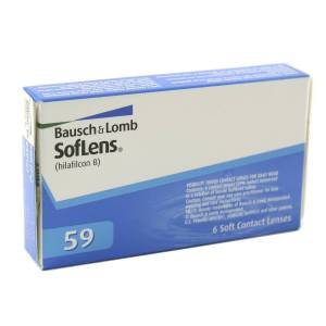 Bausch & Lomb Soflens 59 +0.50 mensuelles 6 lentilles de contact Bausch & Lomb +0.50 Hilafilcon B II - Publicité