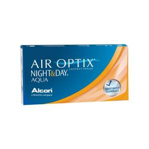 Alcon Air Optix Night & Day Aqua -2.50 mensuelles 6 lentilles de contact Alcon -2.50 Lotrafilcon B I 5 (Silicone Hydrogel) - Publicité