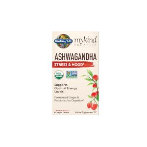 Garden of Life mykind Organics Herbal Ashwagandha - 60 Comprimés - Publicité