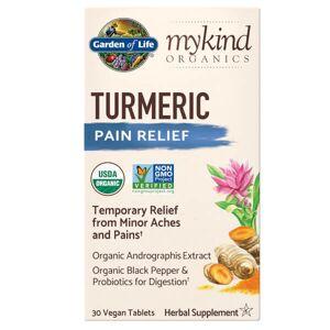 Garden of Life Curcuma mykind Organics Herbal - Analgésique - 30 comprimés - Publicité