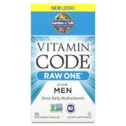 Garden of Life Vitamin Code Raw One Hommes - 30 Capsules