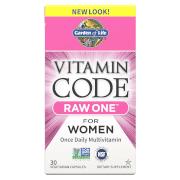 Garden of Life Vitamin Code Raw One Femmes - 30 Capsules
