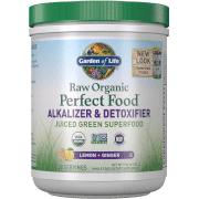 Garden of Life Poudre Alcalinisante et Détoxifiante Raw Organic Perfect Food - Citron Gingembre - 282g