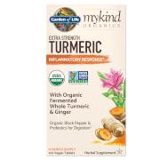 Garden of Life mykind Organics Herbal Curcuma - Force Additionnelle - 120 Comprimés