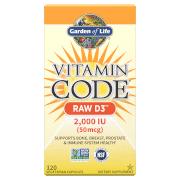 Garden of Life Vitamine D3 2000 lu de Vitamin Code - 120 gélules
