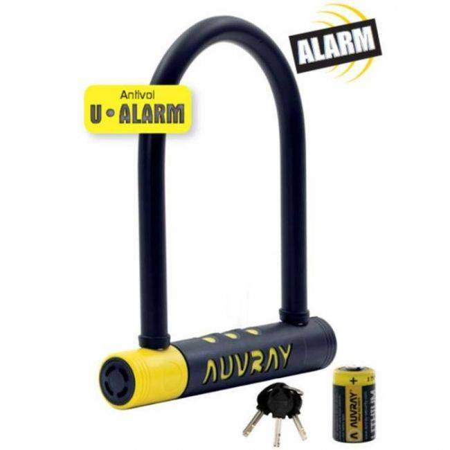 AUVRAY ANTIVOL U ALARME 90 X 210 AVEC SUPPORT D. 14 - AUVRAY