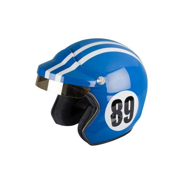 Felix helmet Casque jet vintage ST520 Monte Carlo bleu de france Felix helmet