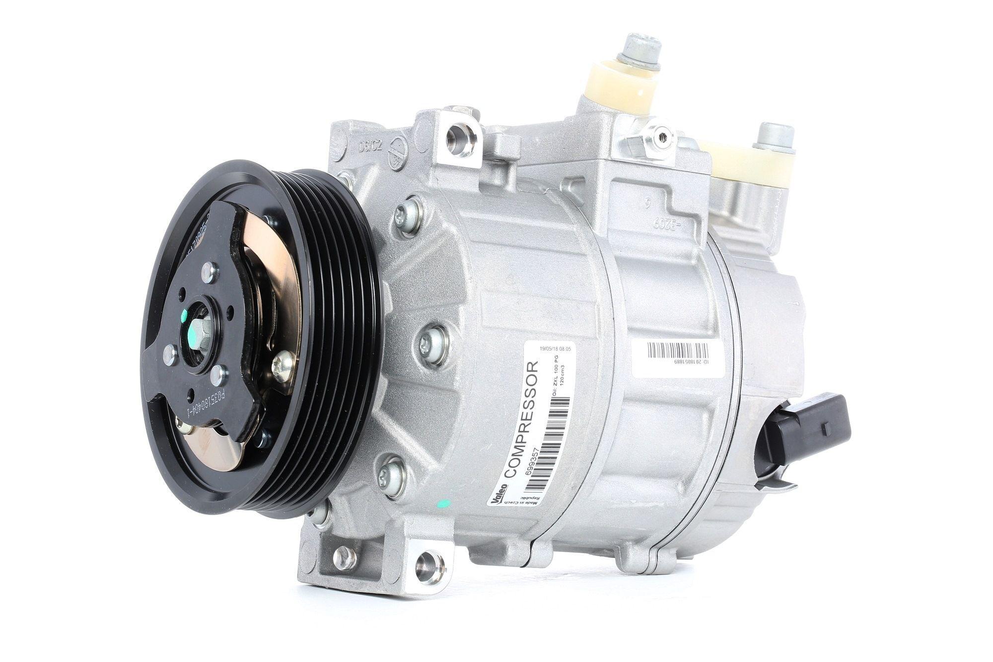 VALEO Compresseur De Climatisation 699357 Compresseur De Clim,Compresseur, climatisation VW,AUDI,SKODA,GOLF V 1K1,TOURAN 1T1, 1T2,GOLF VI 5K1