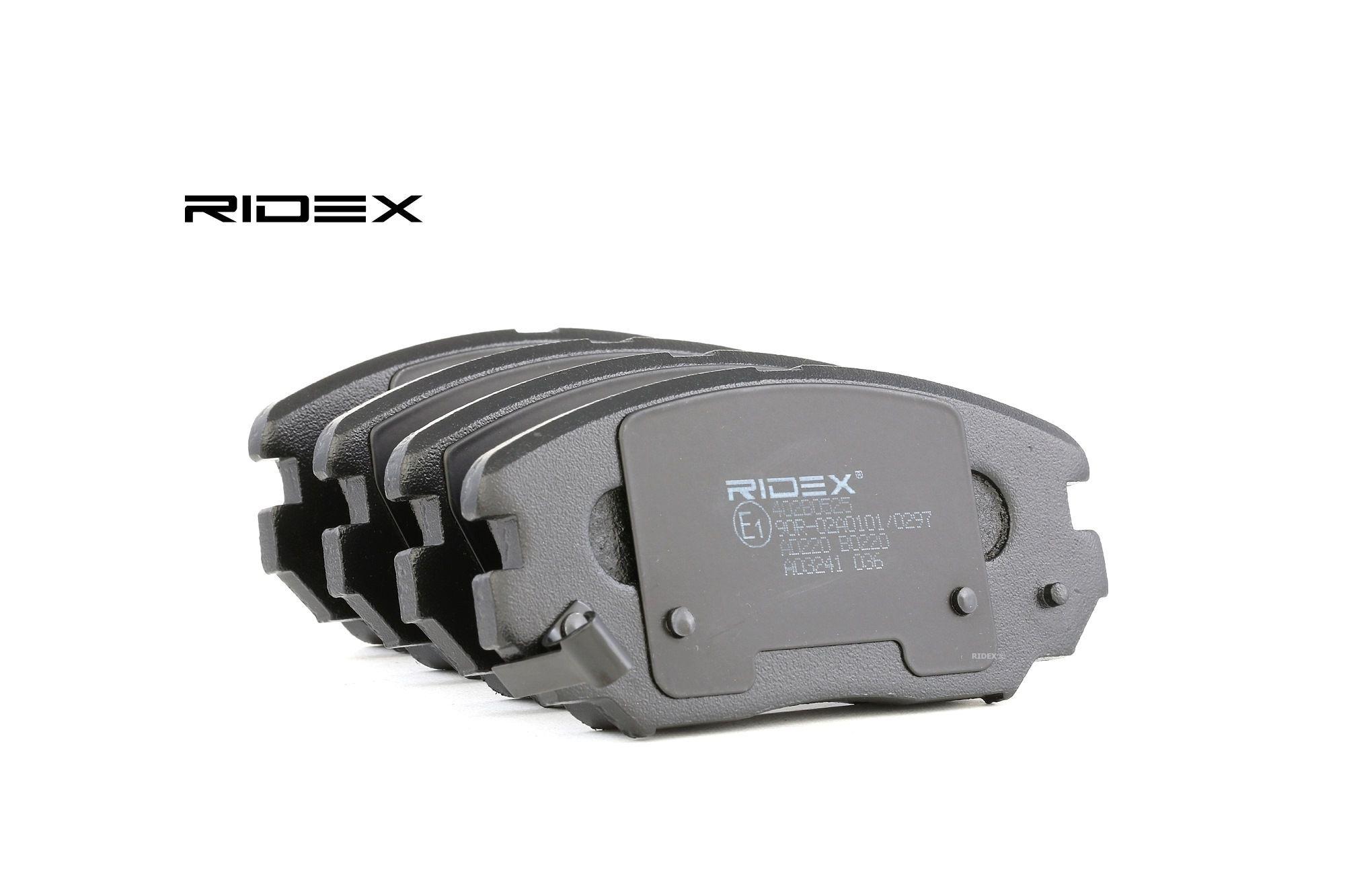 RIDEX Plaquettes De Frein 402B0525 Jeu De Plaquettes De Frein,Jeu de plaquettes de frein, frein à disque HYUNDAI,KIA,TUCSON JM,ix20 JC,SONATA V NF