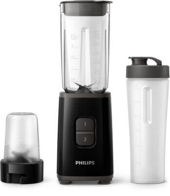 Philips Mini-blender 350W, gourde nomade, hachoir multifonctionsHR2603/90