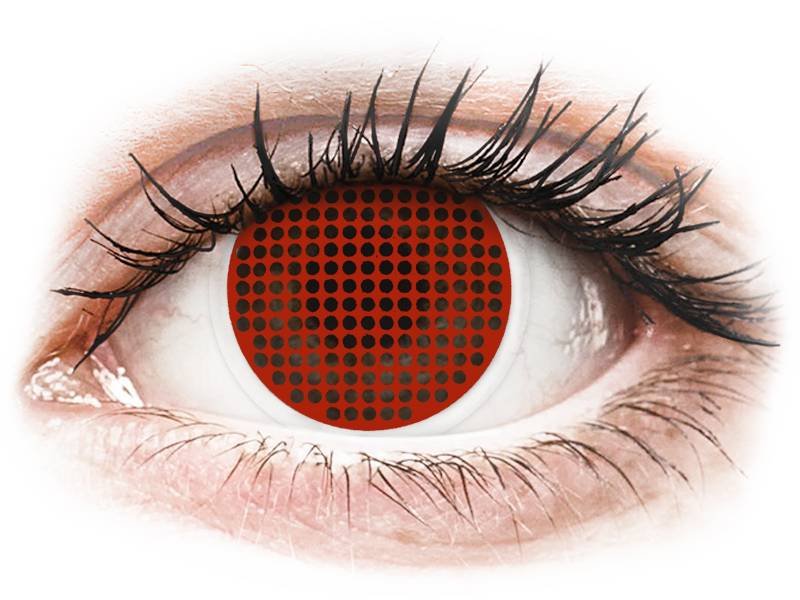 Lentilles de contact Rouge Red Screen - ColourVue Crazy