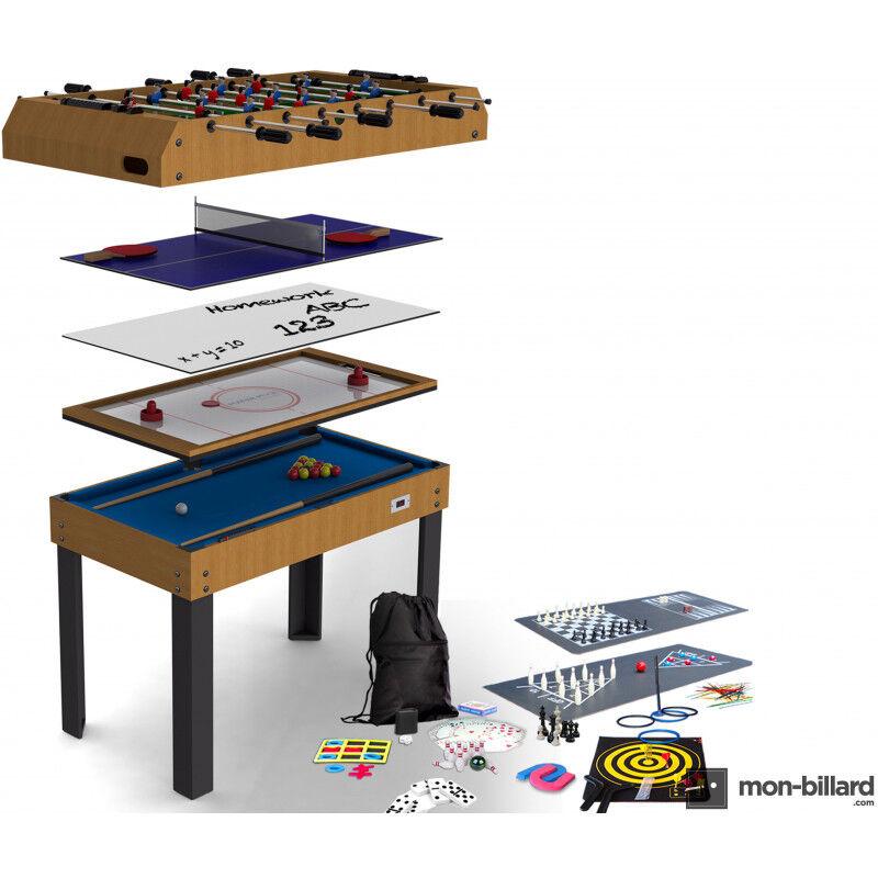 Billard Riley Table Multi Jeux Riley 21 en 1