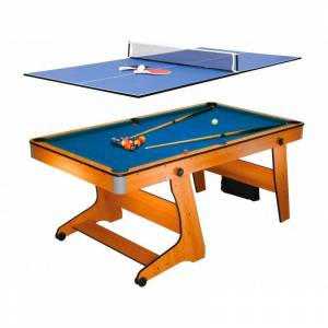 Billard BCE Billard Pliable BCE Clifton 6ft avec plateau Ping Pong - Publicité