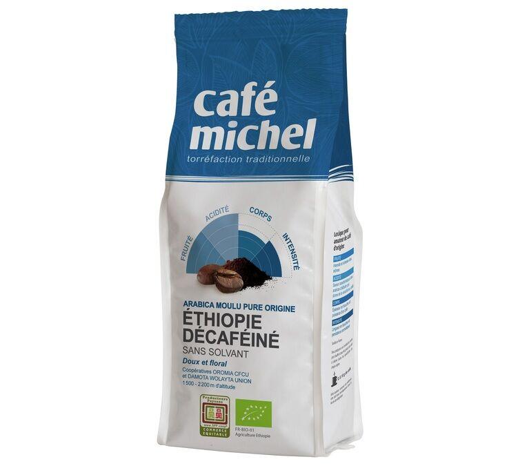 Café Michel Café moulu bio Décaféiné Moka Ethiopie - 250g - Café Michel - Sélection Verte (Bio) - Café Bio - Bio
