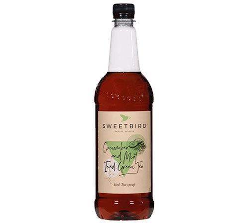 Sweetbird Sirop Sweetbird - Concombre et thé glacé à la menthe - 1L - Sans OGM