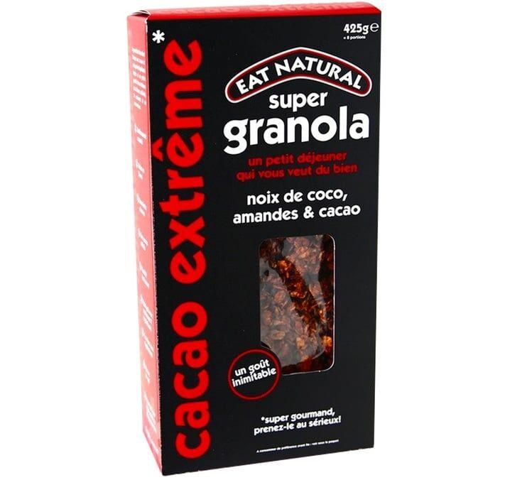 Eat Natural Super Granola noix de coco, amandes et cacao - 425g - 425.0000 g