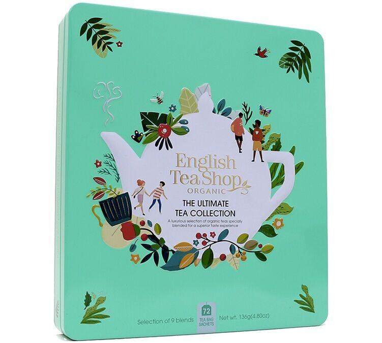 English Tea Shop Coffret The Ultimate Tea bio Collection 72 sachets, boîte métallique - English Tea Shop - Bio