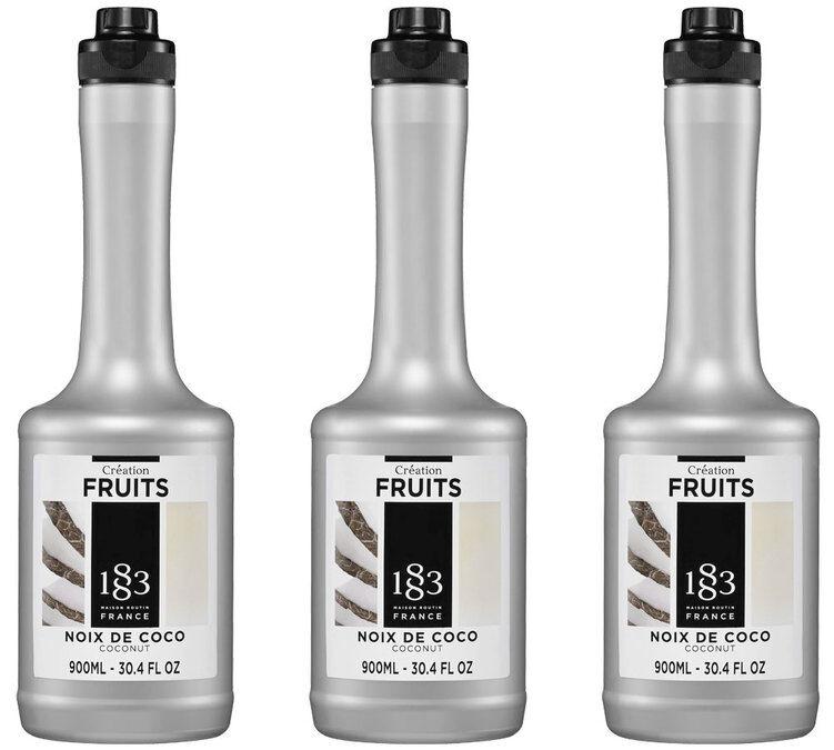 1883 - Maison Routin Lot de 3 smoothies Création Fruits 1883 - Noix de Coco - 3x900 ml - 90.0000 cl
