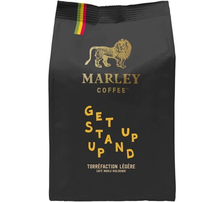 Marley Coffee Café moulu Bio Marley Coffee Get Up Stand Up - 227g - Sélection Verte (Bio) - Café Bio - Bio