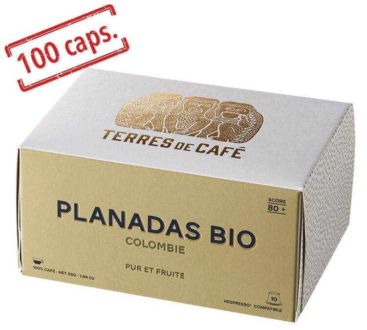 Terres de Café - Pack Capsules Colombie Bio x100 Terres de café pour Nespresso - Colombie