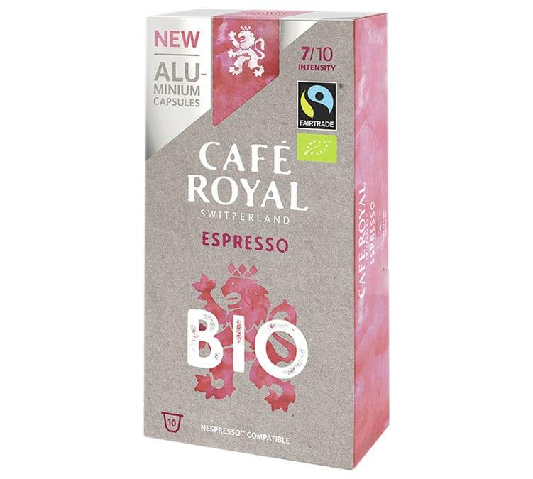 Café Royal Capsules Aluminium Café Royal Bio Espresso x10 pour Nespresso - Sélection Verte (Bio)