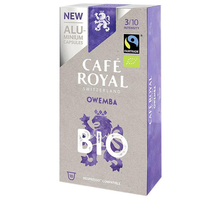 Café Royal Capsules Aluminium Café Royal Owemba Bio x10 pour Nespresso - Ouganda
