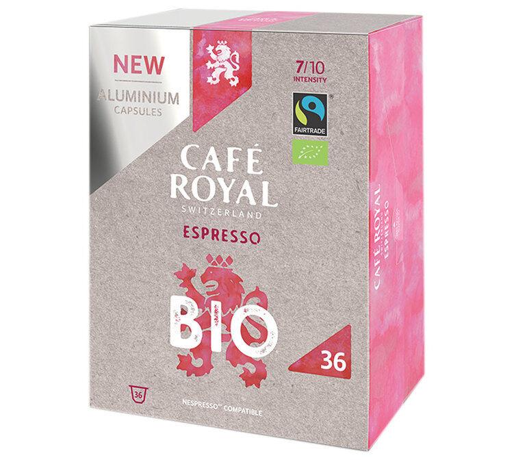 Café Royal Capsules Aluminium Café Royal Espresso Bio x36 pour Nespresso - Sélection Verte (Bio)