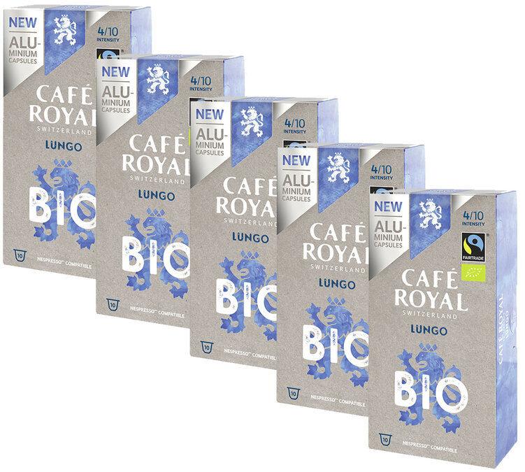 Café Royal Pack Capsules Aluminium Café Royal Lungo Bio 5x10 pour Nespresso - Ouganda