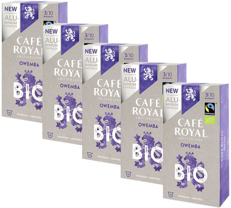 Café Royal Pack Capsules Aluminium Café Royal Owemba Bio 5x10 pour Nespresso - Ouganda