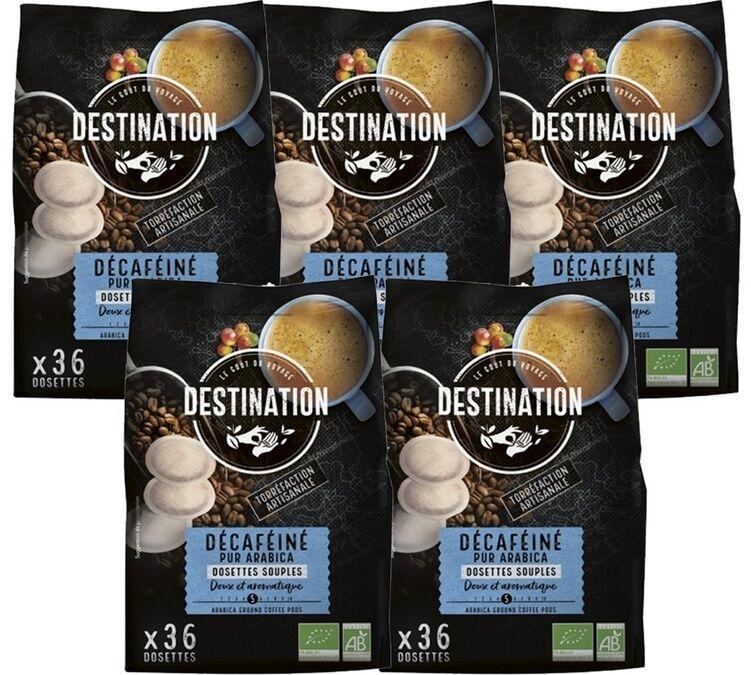 Destination Pack Café dosettes souples Bio Décaféiné 5 x 36 - Destination - Colombie