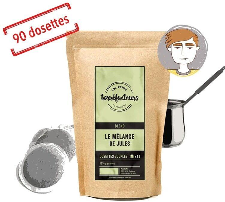 Les Petits Torréfacteurs Dosettes souples - Le Mélange de Jules (Mélange Fruité) - x90 - Les Petits Torréfacteurs - Brésil