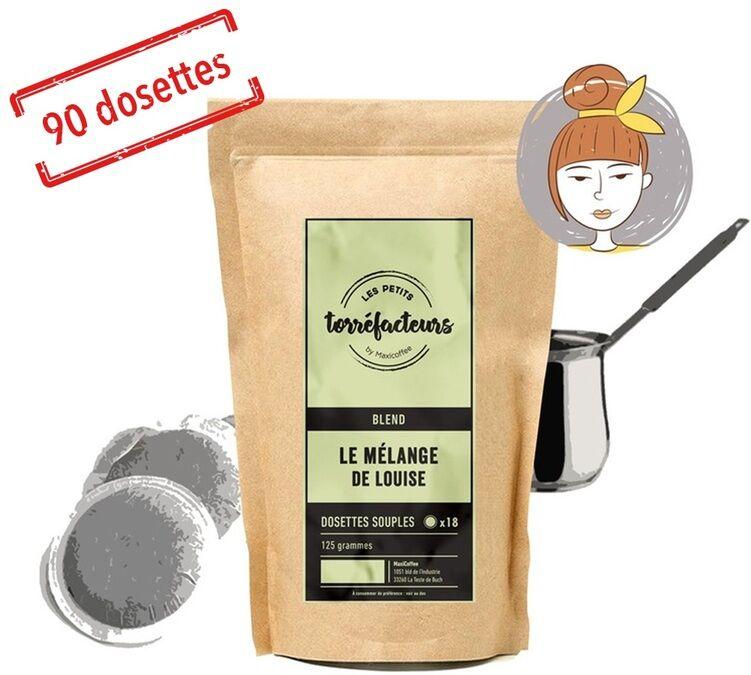 Les Petits Torréfacteurs Dosettes souples - Le Mélange de Louise (Mélange Fruité) - x90 - Les Petits Torréfacteurs - Brésil