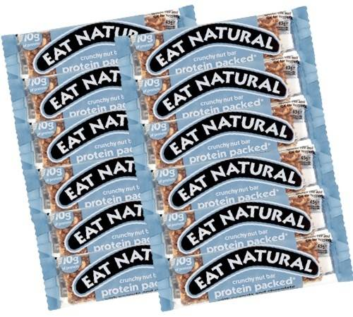 Eat Natural 12 Barres gourmandes Protéines (cacahuètes, noix de coco, etc.) - Eat Natural - 600.0000 g