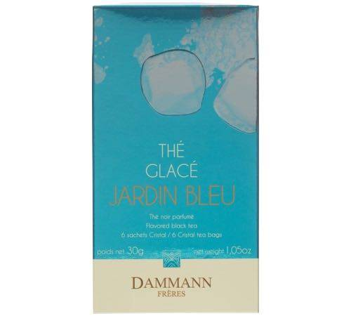 Dammann Frères Thé Glacé Jardin Bleu - 6 Sachets Pyramides - Dammann Frères