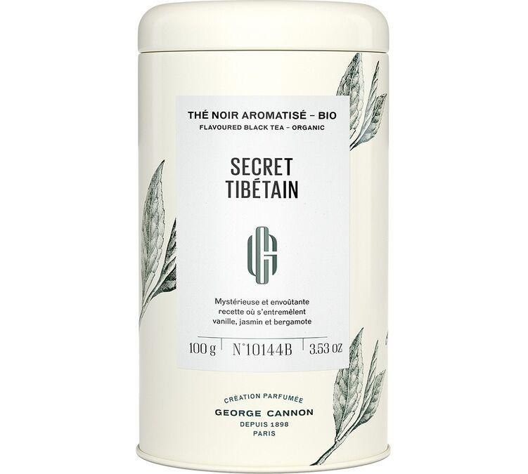 George Cannon Boîte 100g - Thés noir et vert jasmin Secret Tibétain - George Cannon - Bio